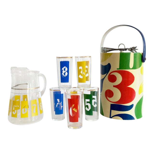 "1960s Graphic ""Numbers"" Bar Set - Set of 10 - Image 1 of 8"