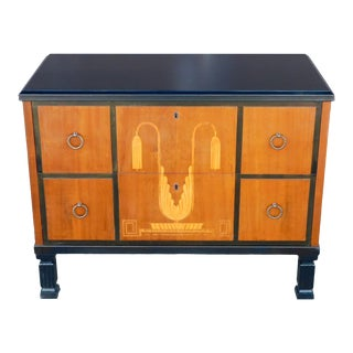 1920s Swedish Art Deco Inlaid Chest of Drawers For Sale