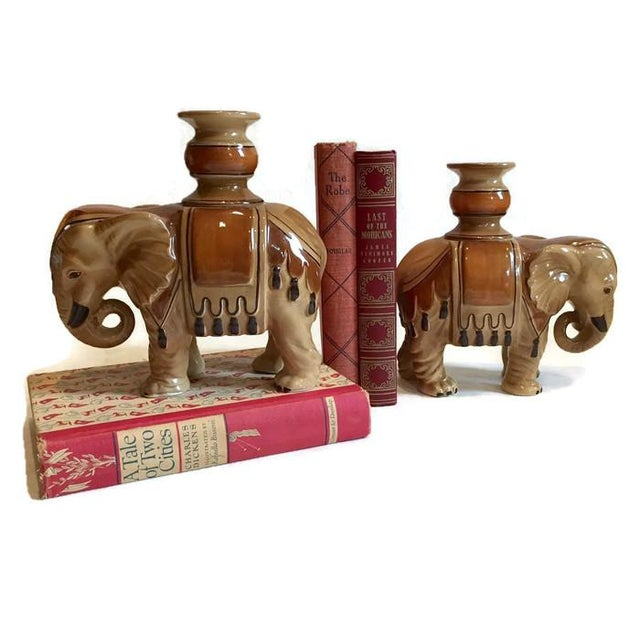 Fitz & Floyd Elephant Candle Holders - A Pair For Sale - Image 5 of 10