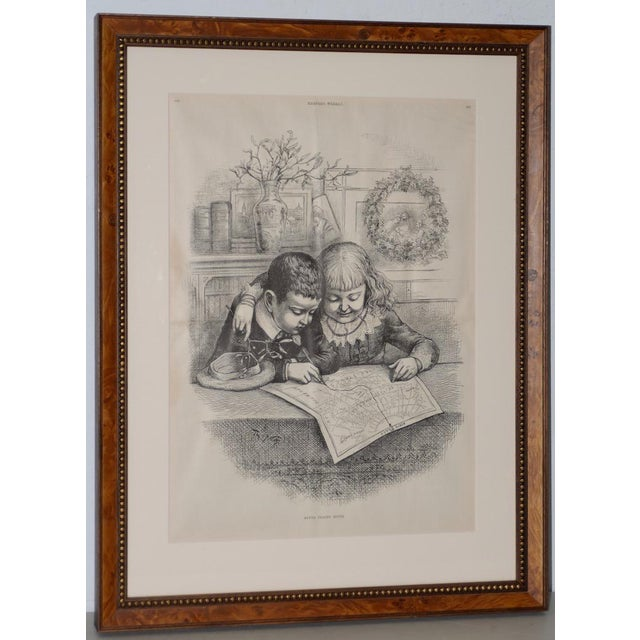 """Santa Claus's Route"""" Illustration by Thomas Nast for Harper's Weekly C.1880s For Sale - Image 10 of 10"""