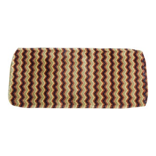 Vintage Green and Orange Berber Carpet Fragment For Sale