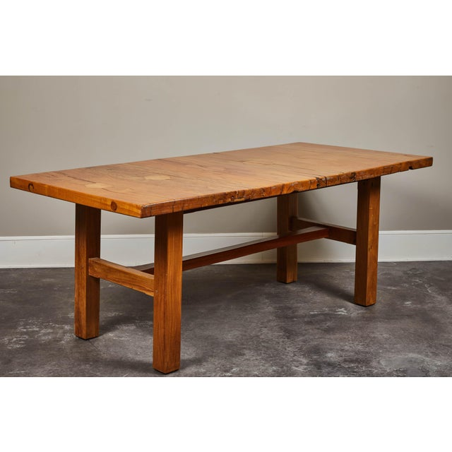 Primitive Rare 19th Century Solid Molave Wood Table For Sale - Image 3 of 10