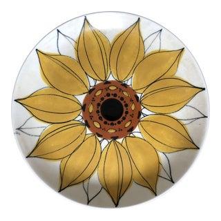 Mid Century Hilkka Liisa Ahola Arabia Finland Sunflower Plate For Sale