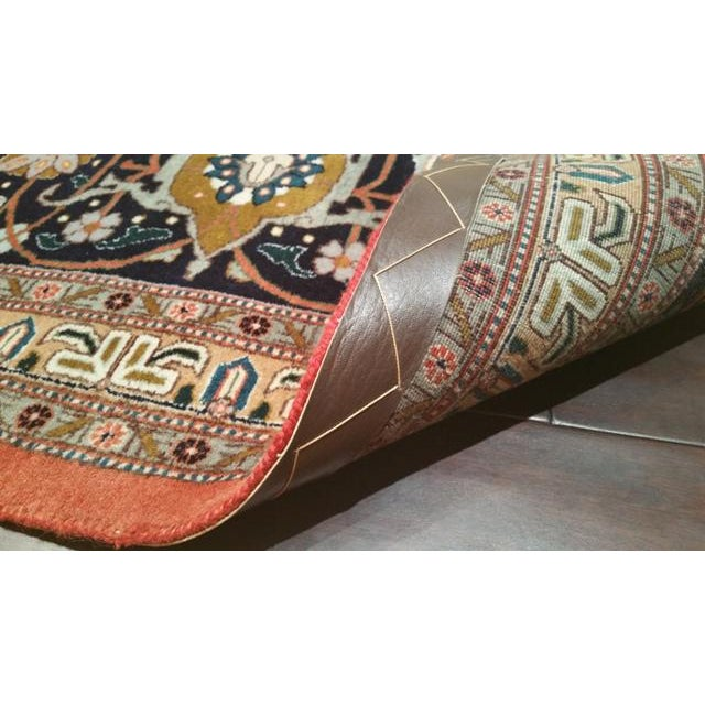 Traditional Hand Made Knotted Tabriz Mahi Design Rug - 12′9″ × 19′7″ - Size Cat. 12x18 13x20 For Sale - Image 4 of 4
