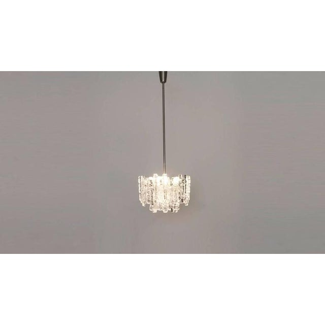 Kalmar Austria Icicle Ice Glass Viennese Chandelier from the 1960s For Sale - Image 6 of 6