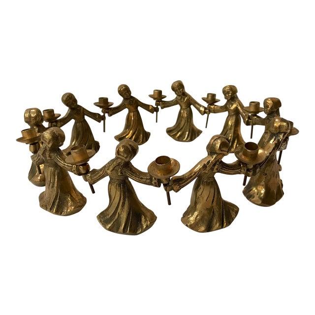 Vintage Ladies Dancing Candle Holders - Set of 10 For Sale