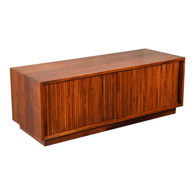 Low Walnut Tambour Cabinet By Glenn Of California Chairish
