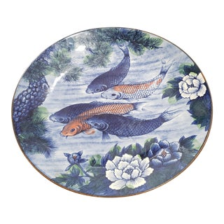Japanese Koi Plate For Sale
