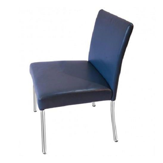 Brayton International Modern Blue Leather Side Dining Chairs - Set of 4 For Sale In Baltimore - Image 6 of 6