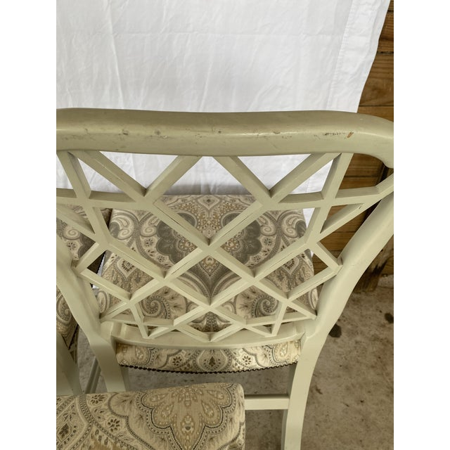 Asian Clive Daniel Fretwork Chairs - Set of 3 For Sale - Image 3 of 13