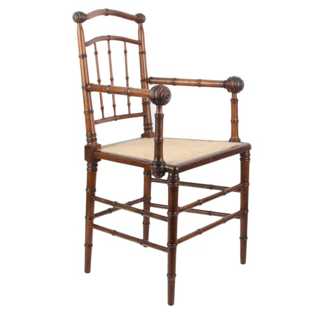 R.J. Horner & Co. Faux-Bamboo Armchair - Image 3 of 10