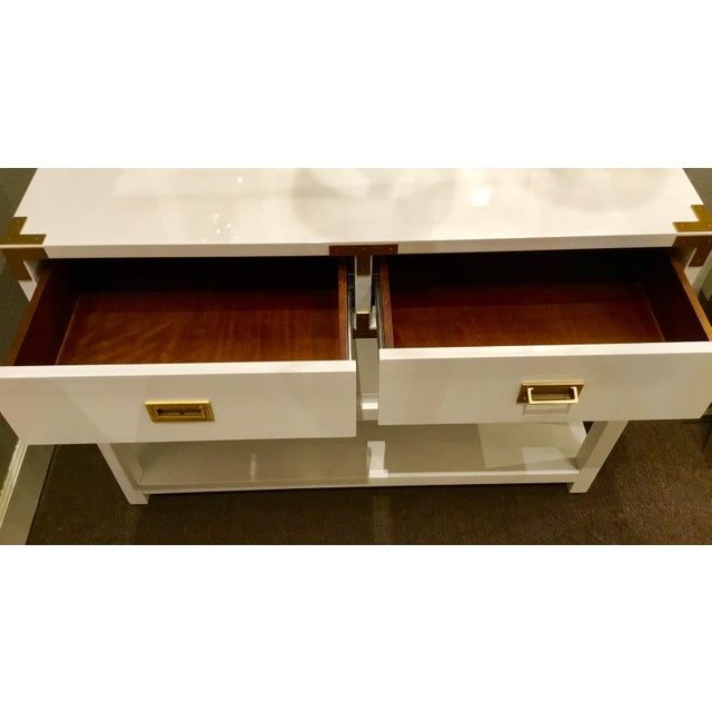 Lacquer Bungalow 5 Julian White Lacquered Console For Sale - Image 7 of 8