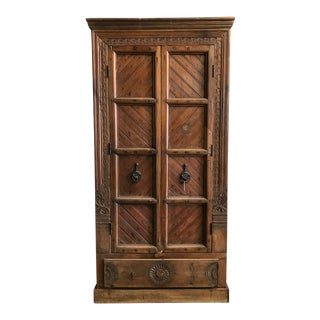 Cisco Home Carved Wood Armoire For Sale