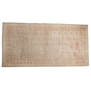 "Antique Distressed Khotan Rug Runner - 6'2"" X 12'1"""