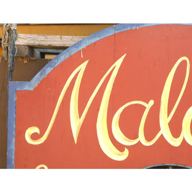 """Very Large """"Maloof's"""" Ice Cream Shop Sign For Sale In Los Angeles - Image 6 of 7"""
