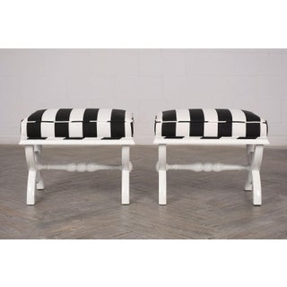 Pair of Lacquered Finish Regency Style Benches Preview