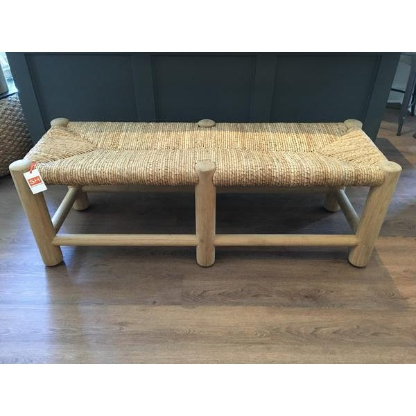 Ralph Lauren Home Driftwood Rush Bench - Image 6 of 7
