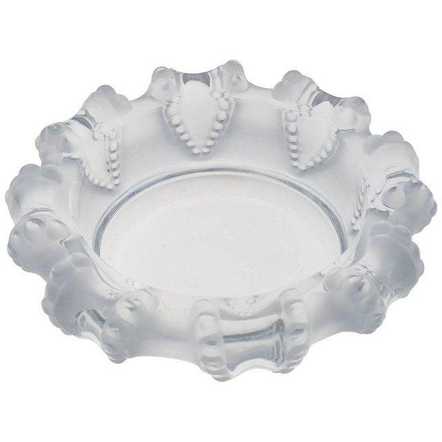 Transparent Lalique France Large Crystal Ashtray Bowl Dish For Sale - Image 8 of 8