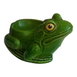 Vintage Italian Terra-Cotta Frog Catchall For Sale