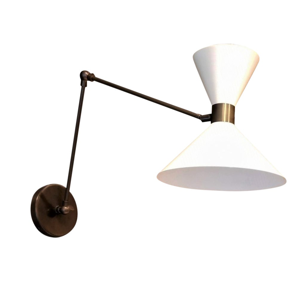 Large Scale Monarch Articulated Wall Mount Lamp In Bronze Blueprint Lighting Chairish