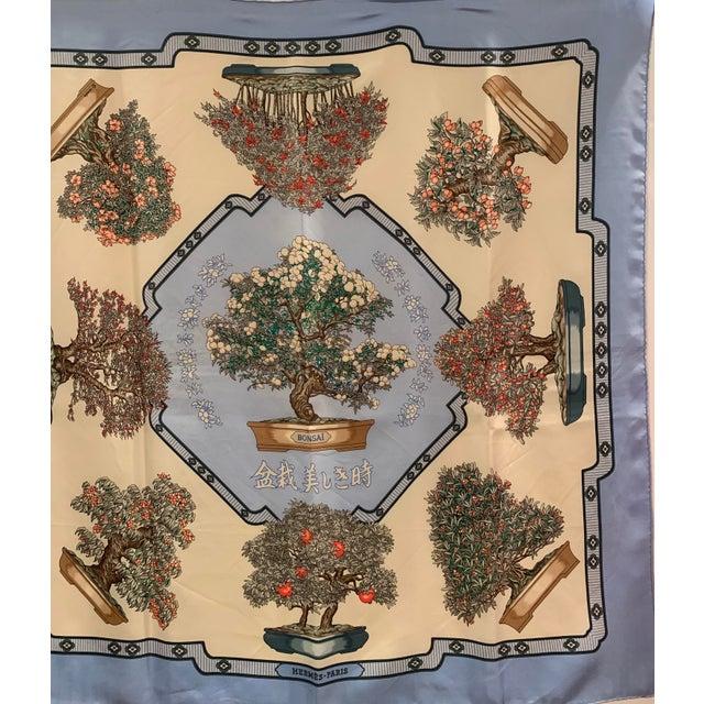 """Hermès Bonsai silk scarf. 34"""" square. Made in France."""