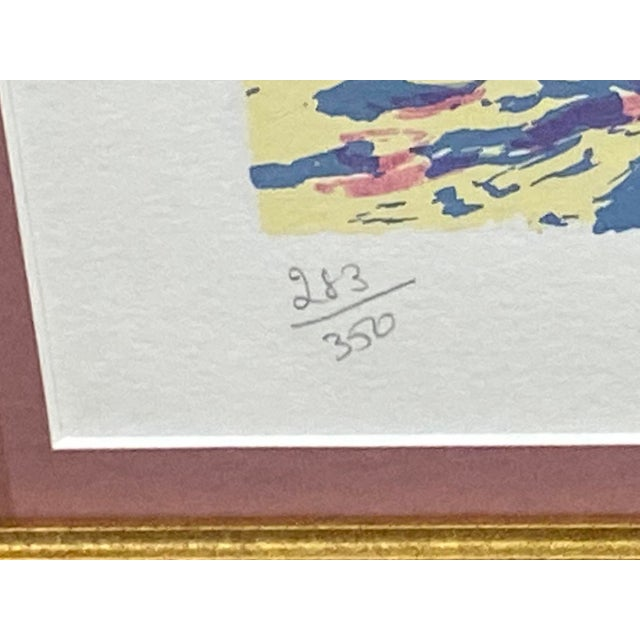 """Impressionist """"Waterfront II"""" Signed and Numbered Lithograph by Hazel Soan For Sale - Image 3 of 9"""