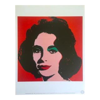"Andy Warhol Estate Rare 1989 Collector's Lithograph Pop Art Print "" Liz Taylor "" 1964"
