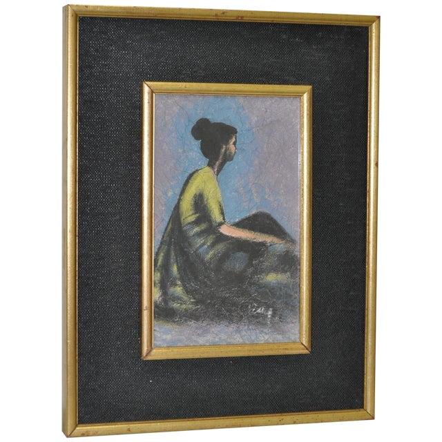 Vintage Pastel on Paper in Gilded Frame C.1950's - Image 1 of 6