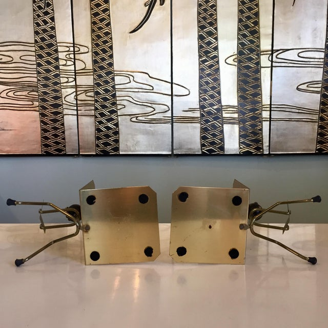 Mid-Century Modern Brass Stick Men Bookends - a Pair For Sale - Image 4 of 6