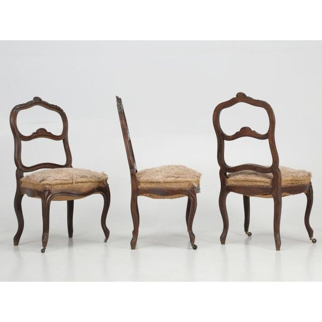 French Antique Carved Parlor Chairs - Set of 6 For Sale - Image 11 of 12