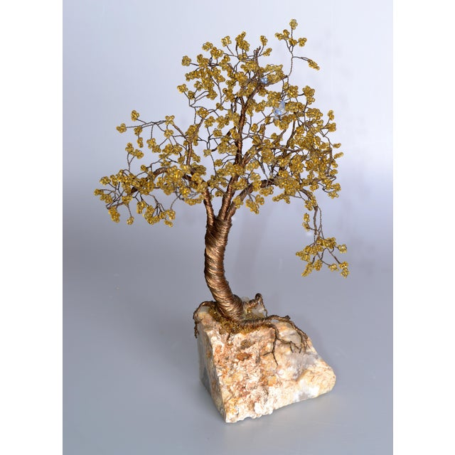 Handcrafted Tree Metal Sculpture Beads For Sale - Image 9 of 9