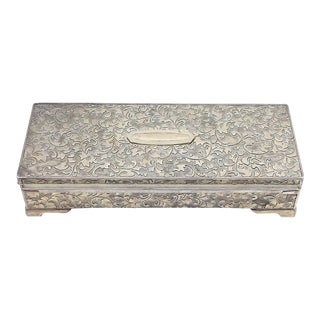 1970s French Provincial Silver Jewelry Box For Sale