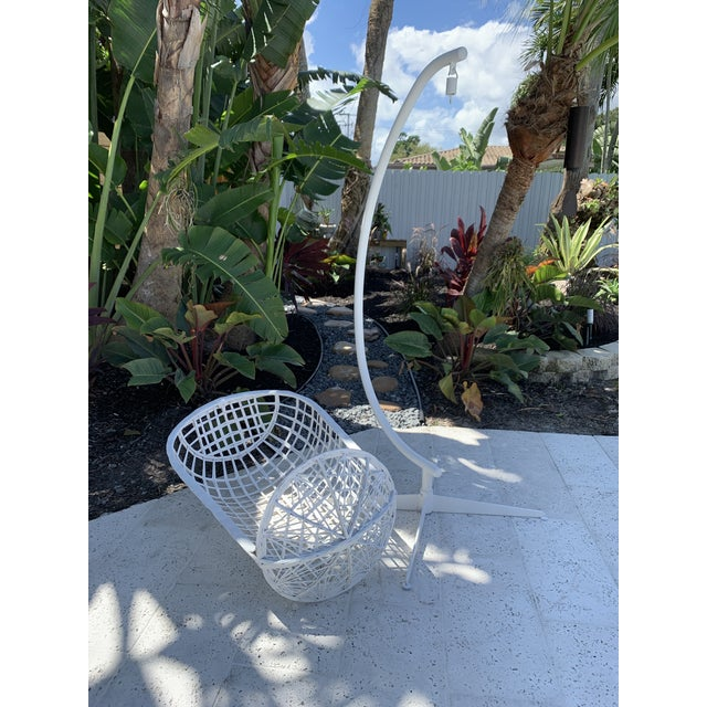 Vintage Russell Woodard Hanging Birdcage Swing For Sale - Image 10 of 13
