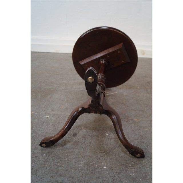 Stickley Queen Anne Solid Mahogany Pedestal Stand - Image 4 of 10
