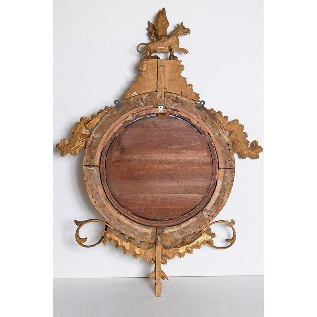 18th Century George III Gilt-Wood Convex Girandole Mirror For Sale - Image 12 of 13
