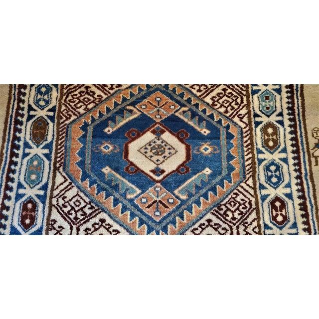 Early 20th Century Vintage Afghan Tribal Square Prayer Rug- 3′7″ × 3′8″ For Sale - Image 4 of 11