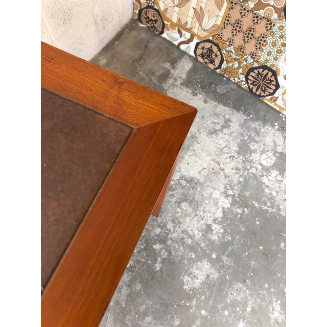 Vintage Mid Century Danish Modern Tile Top Console/ Entry Table For Sale - Image 9 of 13