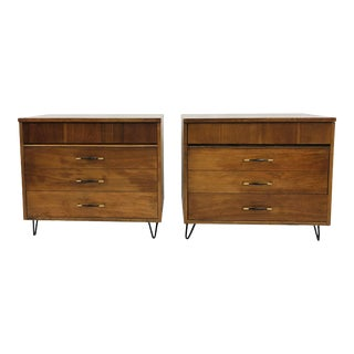 Pair Vtg Mid Century Modern Side Tables For Sale