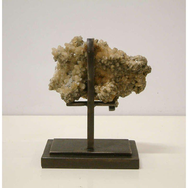 1990s Rock Crystal With Metallic Deposits Mounted on a Custom Maurice Beane Studios Stand For Sale - Image 4 of 9