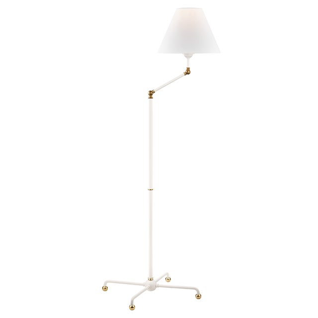 Mid-Century Modern Classic No.1 1 Light Floor Lamp - Agb/Wh For Sale - Image 3 of 5