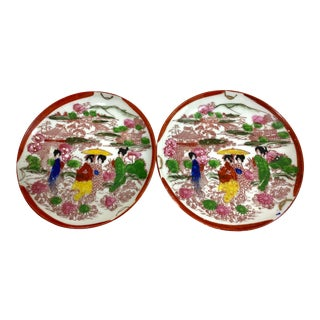 1800s Handpainted Japanese Plates For Sale