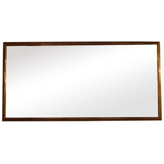French Brass Bistro Mirror For Sale