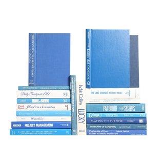 Retro Ocean: Blue and White Books, S/20