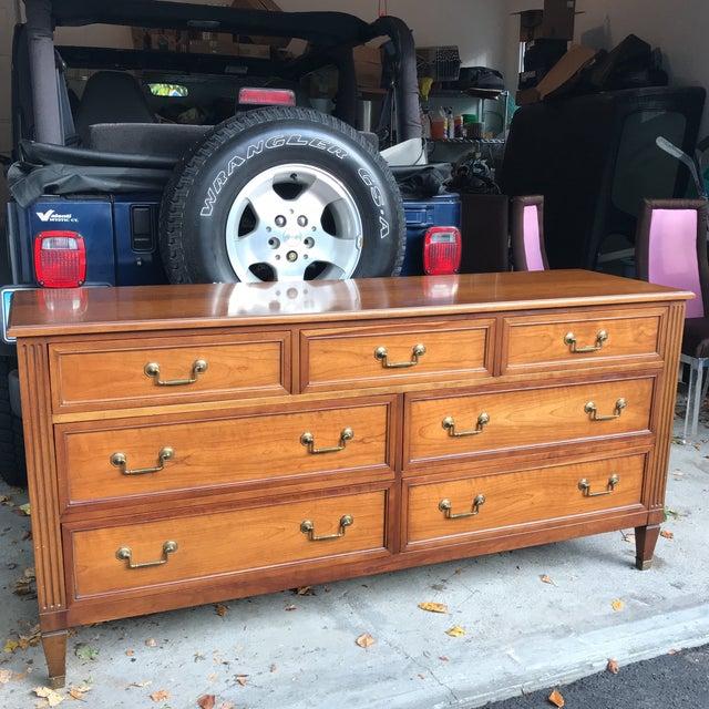 Vintage Kindel Belvedere Cherry Dresser - Image 10 of 10