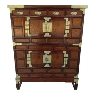 Korean Style Two Piece Tansu Chest For Sale