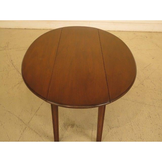 1960s Traditional Kittinger Drop Leaf Mahogany Coffee Table For Sale - Image 9 of 12
