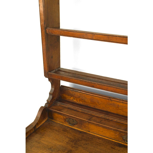 Rustic 18th Century English Country Open Shelf Oak Sideboard For Sale - Image 3 of 5