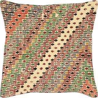 "Nalbandian - 1960s Turkish Cicim Pillow - 23"" X 23"" For Sale"