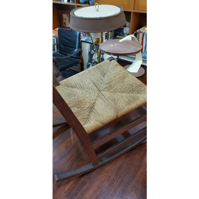 Gustav Stickely Early Arts & Crafts Mission Oak Youth Rocker Chair For Sale - Image 10 of 13