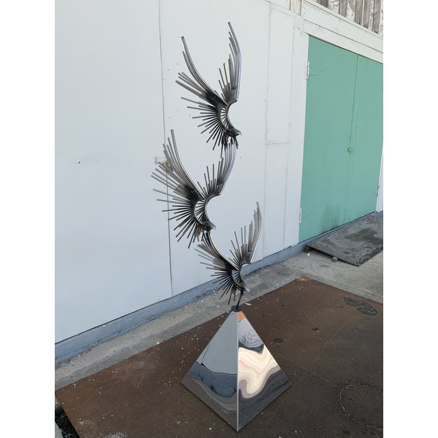 6 Foot Eagles in Flight Sculpture by Curtis Jere For Sale - Image 11 of 11